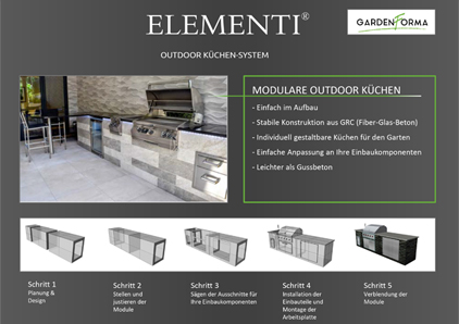 Elementi Outdoor Kitchen Flyer